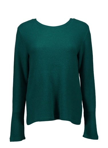 Collezione Collezione Uzun Kollu Basic  Kadın T-Shirt Yeşil
